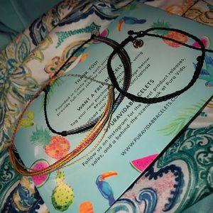 three pura vida bracelets